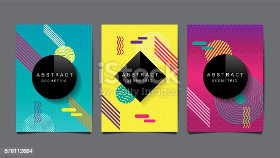 istock Abstract geometric , layout design template, vector pattern and background 876112684