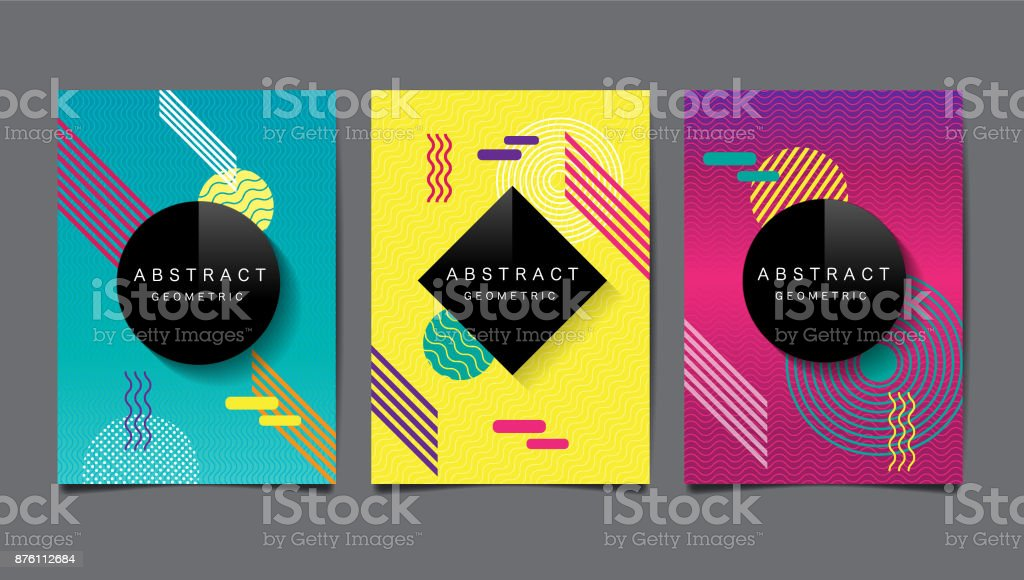 Abstract geometric , layout design template, vector pattern and background vector art illustration