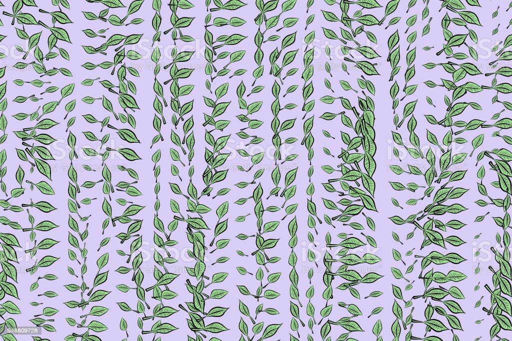 Abstraktgeometrischen Blätter Zeichnen Muster Bunte Künstlerischen