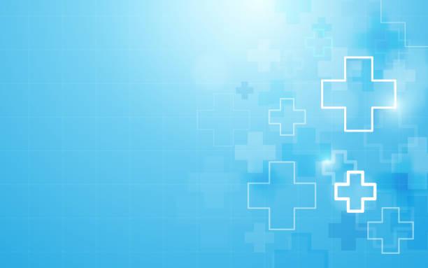 교차 하는 모양 의학 및 과학 개념 배경 추상 형상 의학 - 건강관리와 의술 stock illustrations