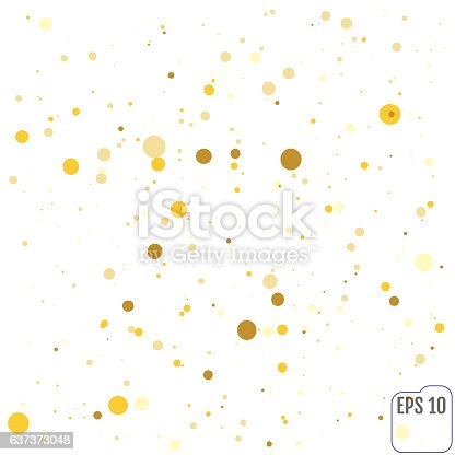 Abstract geometric modern background. Vector illustration.Shiny backdrop. Texture of gold foil. Art deco style. Polka dots, confetti.