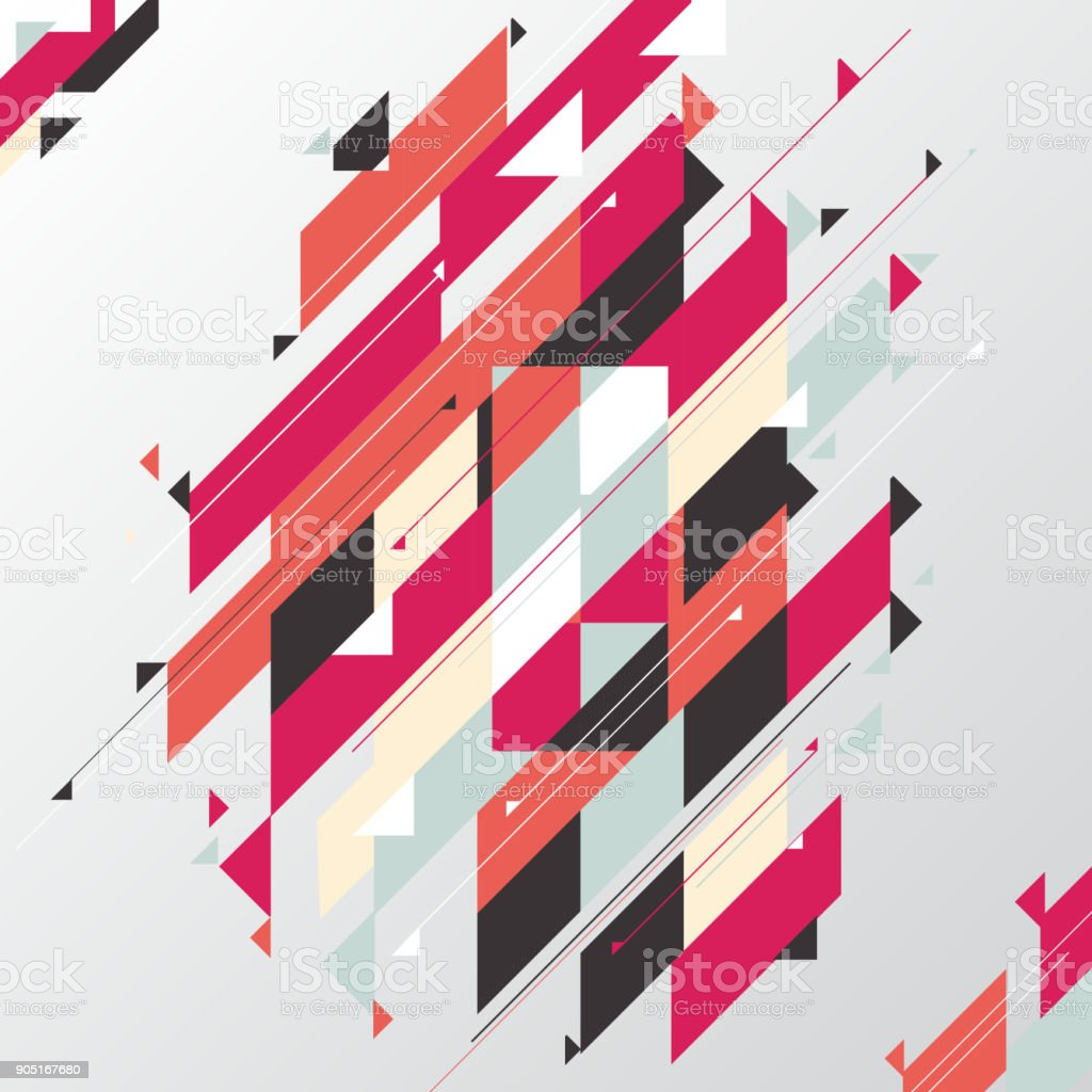 Abstract geometric modern diagonal and triangle element red tone color background. vector art illustration
