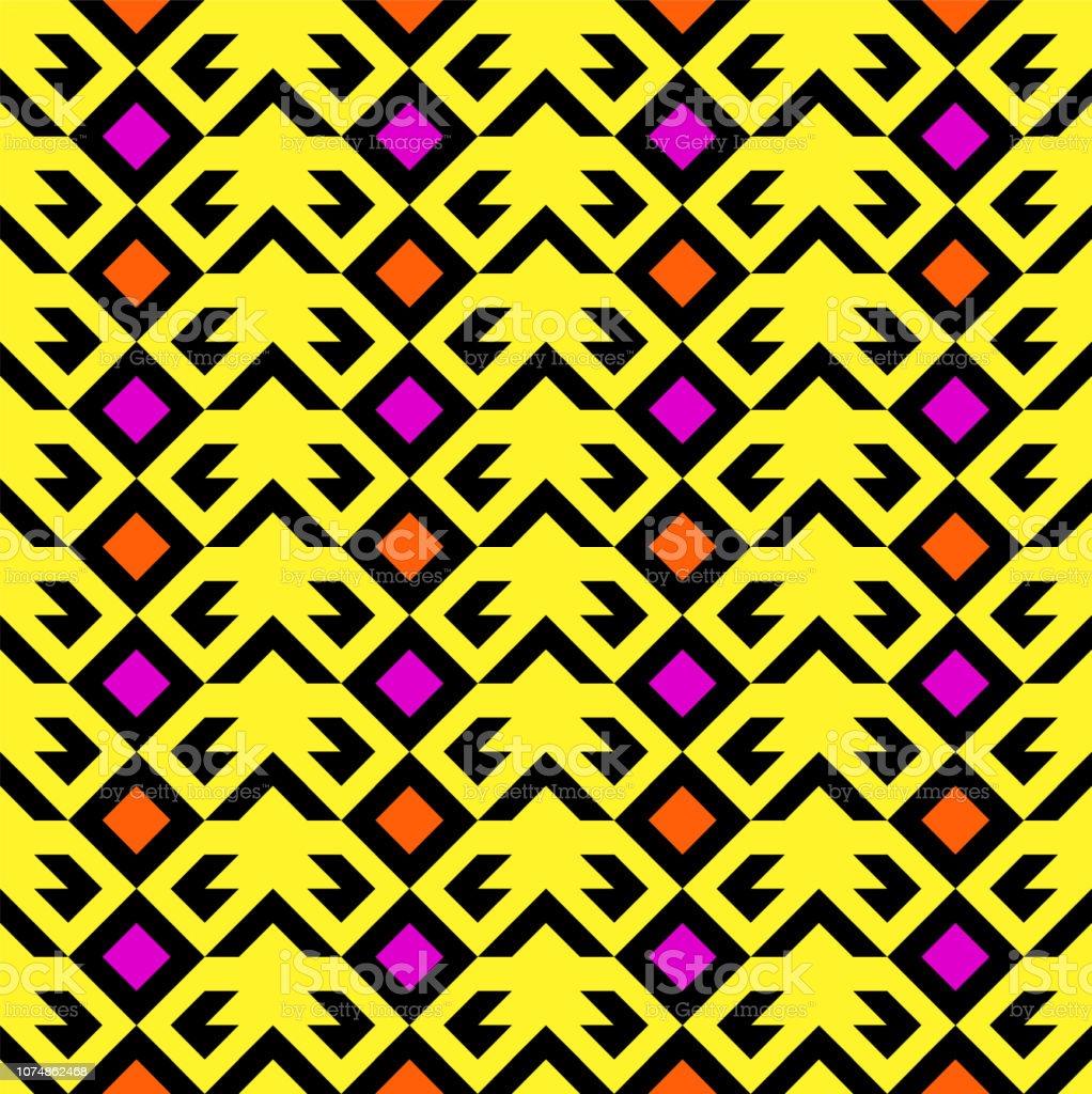 抽象的な幾何学的なモダンなシームレス パターン80 年代90 年代ポップ