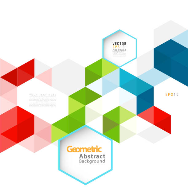 Abstract geometric modern template for business or technology presentation vector art illustration