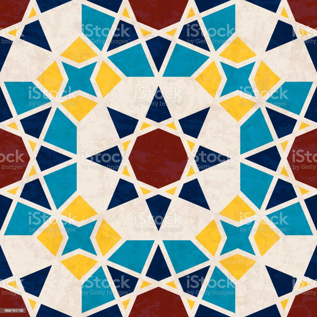 Verwonderend Abstracte Geometrische Mozaïek Patroon Met Veelhoeken En Sterren NJ-84