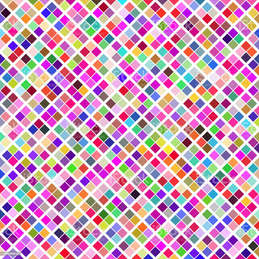 Abstract geometric pattern background. Colorful mosaic on black royalty-free stock vector art