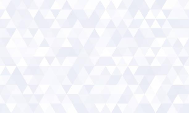 抽象幾何圖案背景,白色多邊形鑲嵌造型向量設計。現代灰色最小平面三角鑽石瓷磚圖案背景 - 三角形 幅插畫檔、美工圖案、卡通及圖標