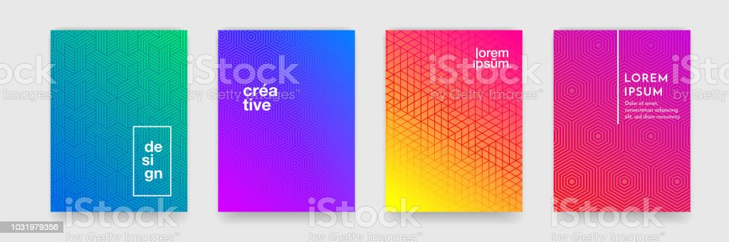Abstract geometric pattern background with line texture for business brochure cover design poster template - Royalty-free Abstrato arte vetorial