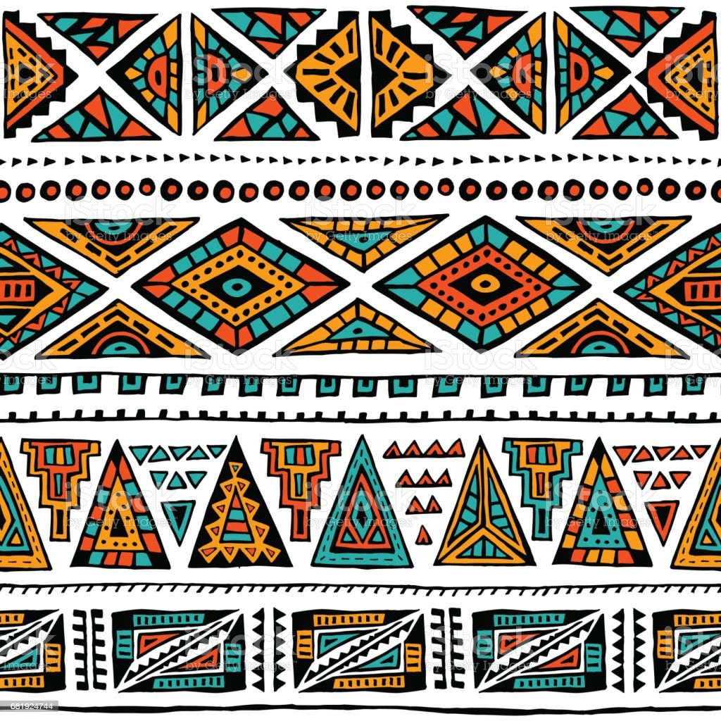 Abstract geometric pattern. Ethnic and tribal motifs. vector art illustration