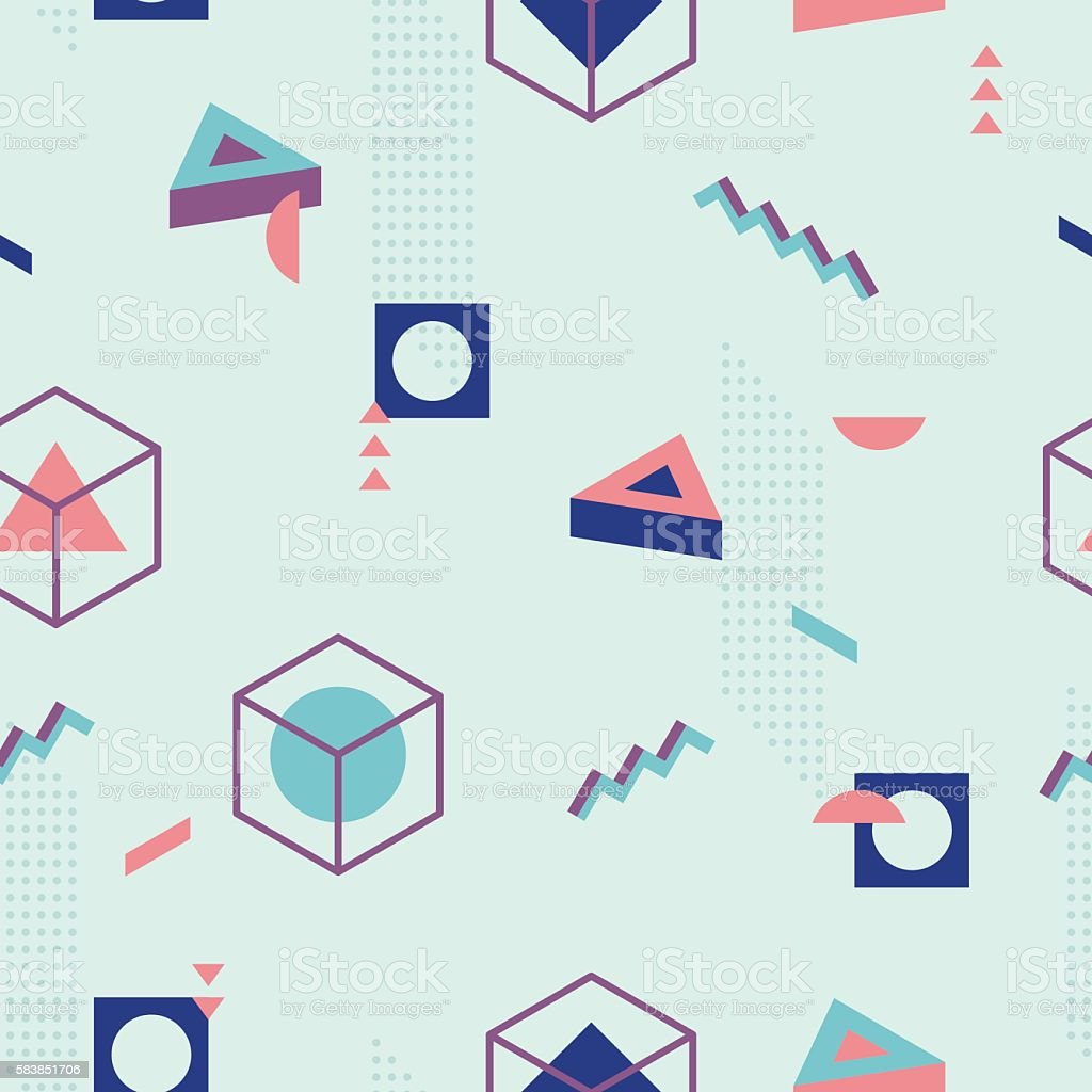 Abstract Geometric Pattern fashion 80-90s. I vector art illustration