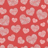 Abstract geometric pattern heart. Romantic Valentine's Day theme with. backgrounds