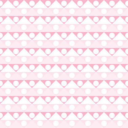 Abstract geometric pattern pink and white. A seamless vector background.