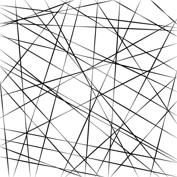 Abstract geometric pattern, random random stripe lines, vector background intersecting diagonal stripe lines different angle Abstract geometric pattern, random chaotic stripe lines, vector background intersecting diagonal stripe lines at different angle crisscross stock illustrations