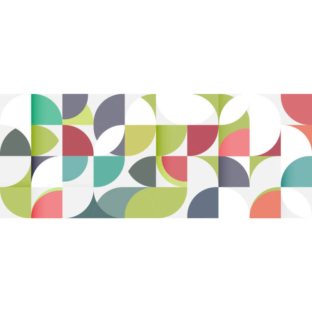 Abstract geometric pattern stripe with a variety of geometric. vector art illustration