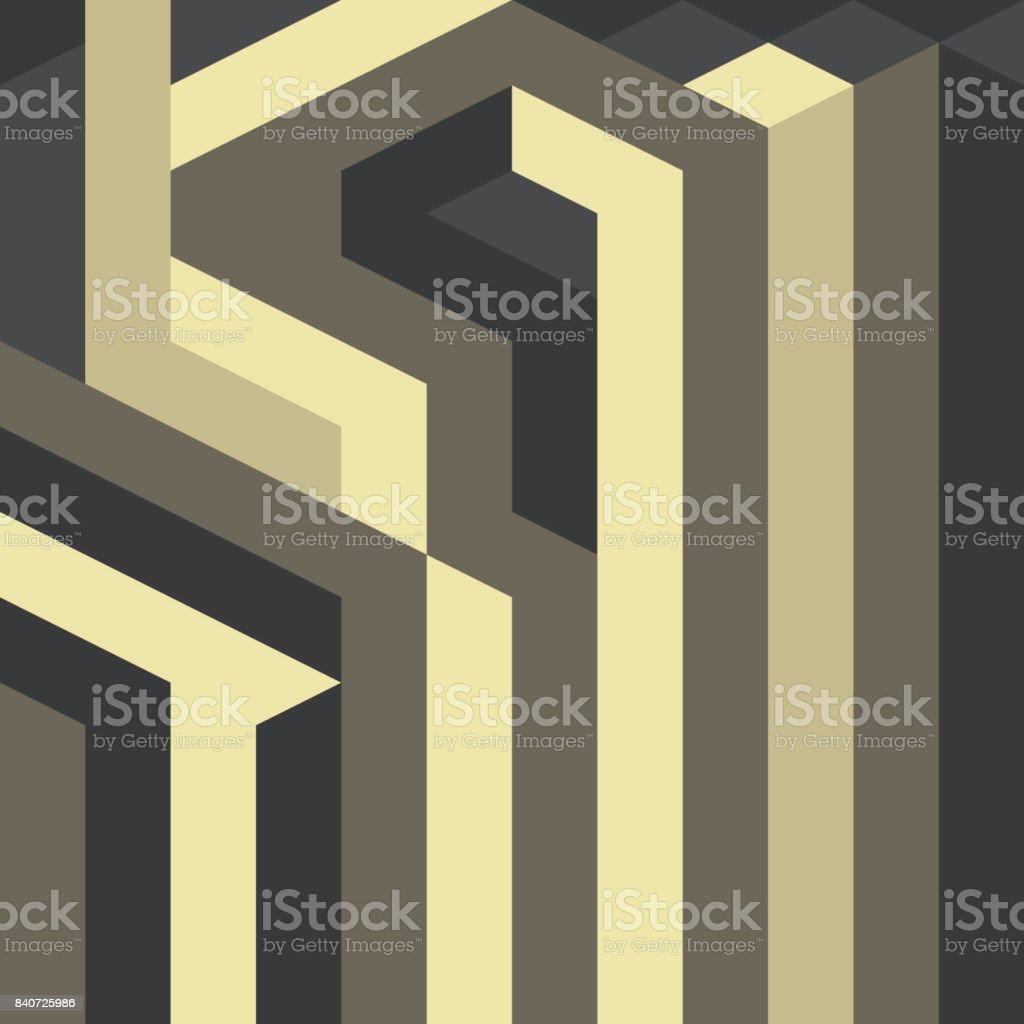 Resumo de padrão geométrico vetorial gótico arte deco - ilustração de arte em vetor