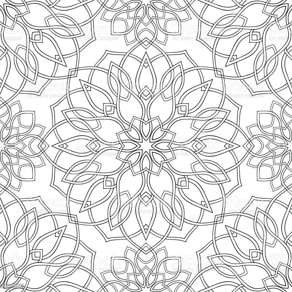 Soyut Geometrik Desen Stok Vektör Sanatı Arap Kültürünin Daha