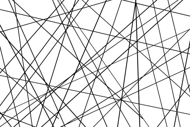 abstract geometric pattern Random chaotic lines abstract geometric pattern crisscross stock illustrations