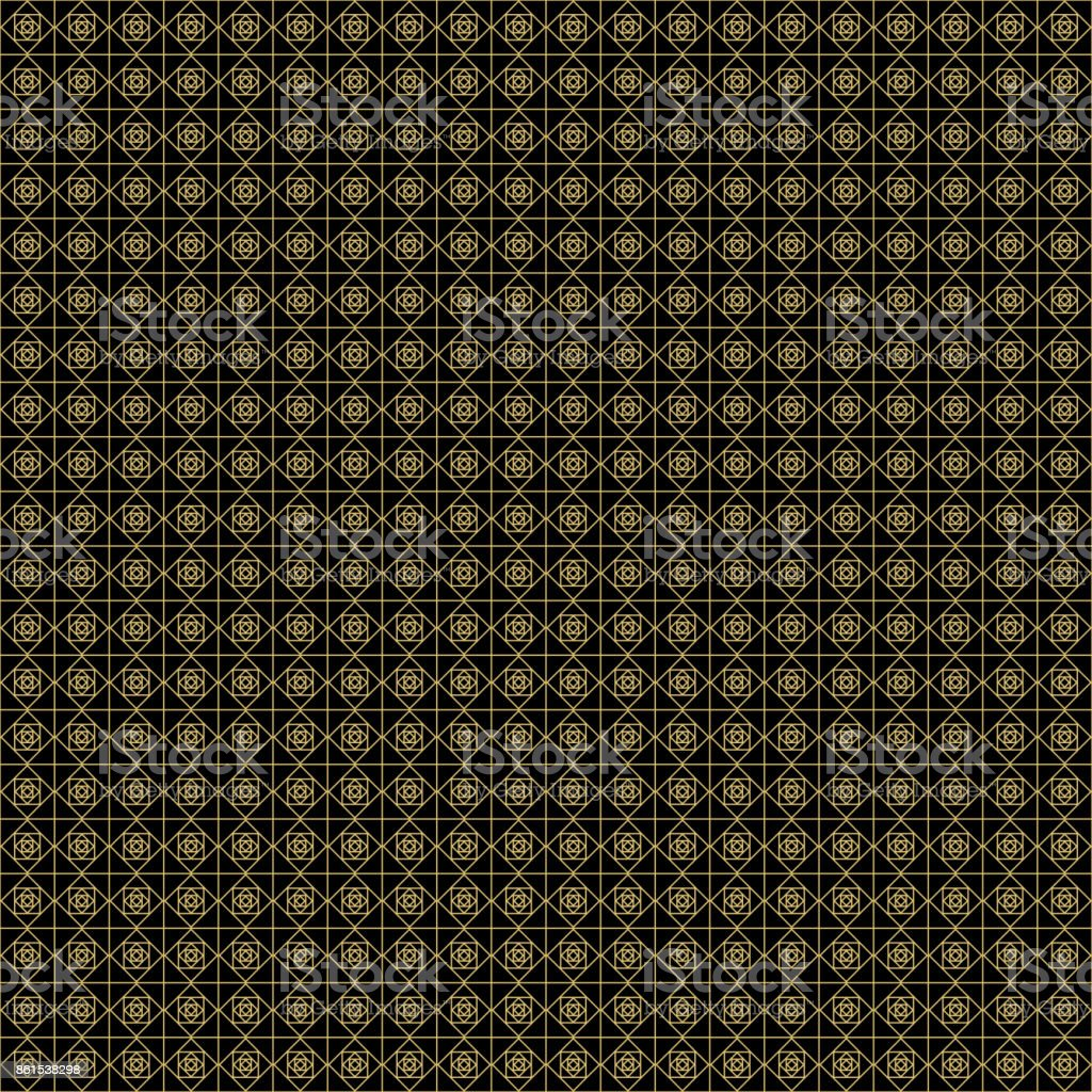 Abstract Geometric Pattern With Lines Gold And Black