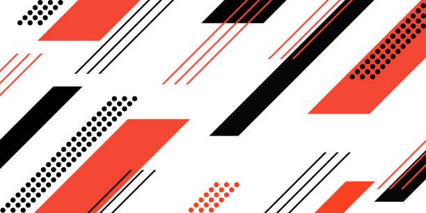 Abstract geometric retro pattern background vector art illustration