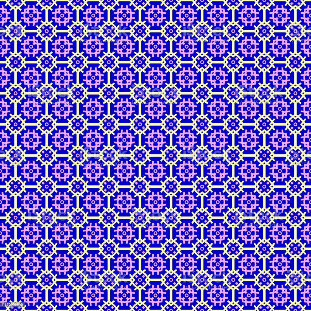 Abstract geometric seamless background. Violet and yellow color. vector art illustration