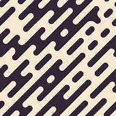 Abstract geometric seamless hipster fashion pillow pattern. Random halftone rounded lines background