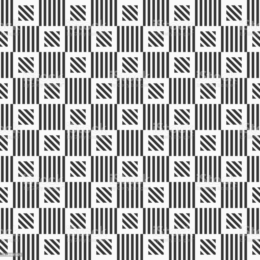 c19e2bb06c5750 Abstract geometrisch naadloos patroon van gestreepte vierkanten. Herhalende  geometrische tegels. royalty free abstract geometrisch