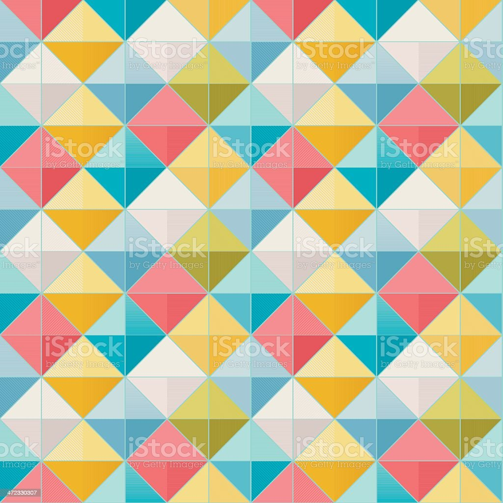 Abstract Geometric Seamless Pattern royalty-free stock vector art