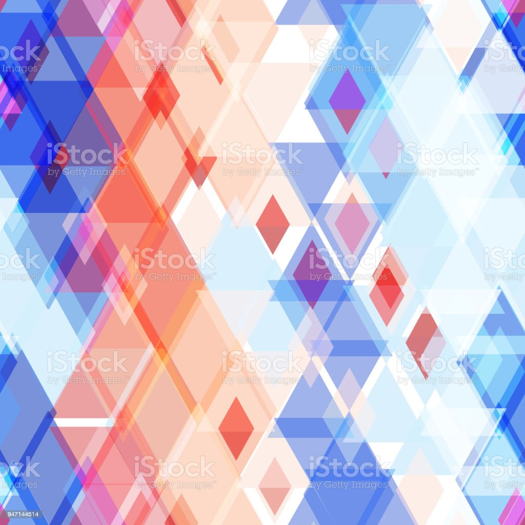 Abstract Geometric Seamless Pattern With Rhombus Decorative ...
