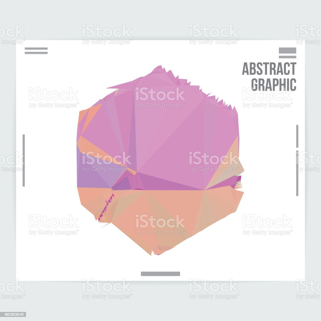 abstract geometric shape graphic design poster layout template stock