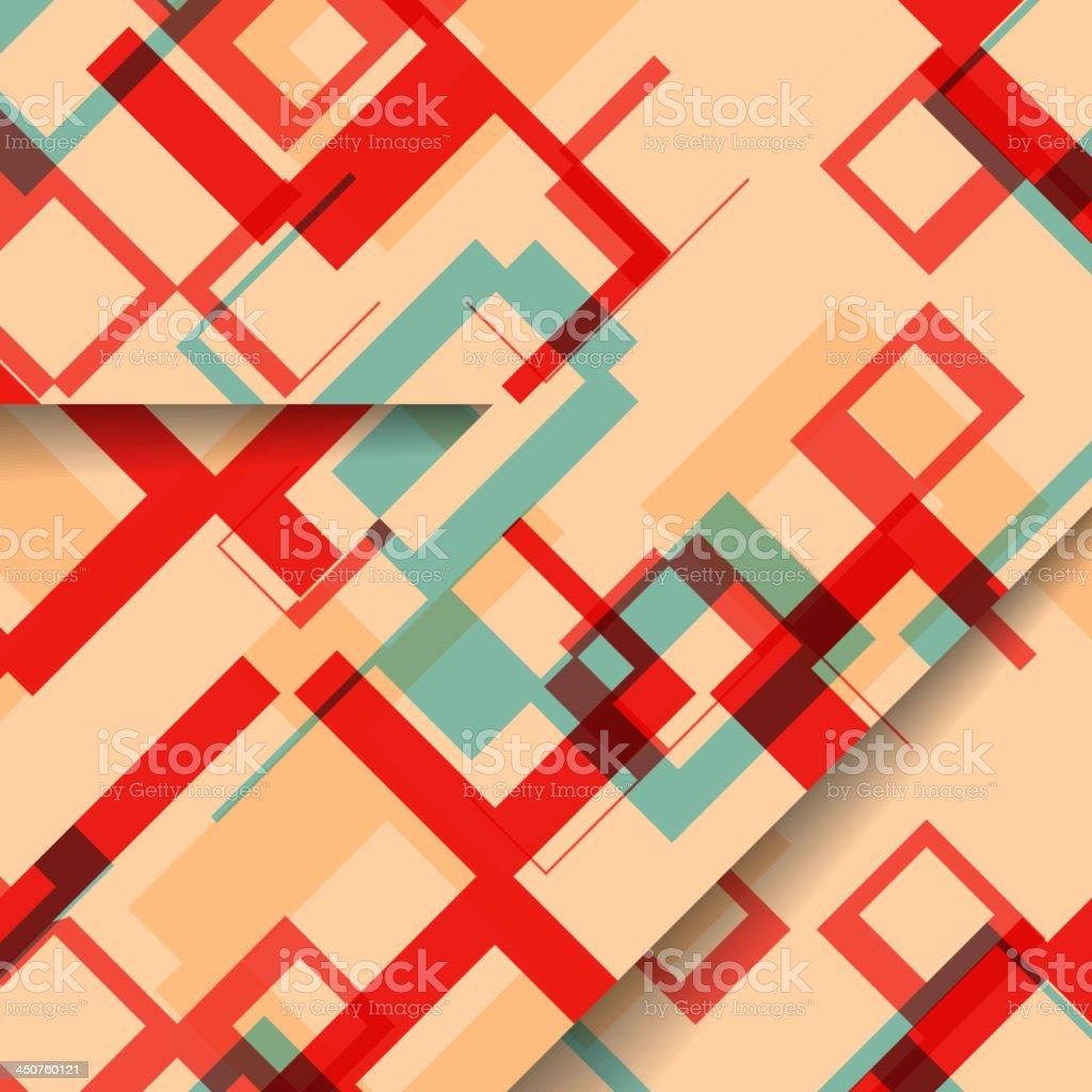 Abstract geometric shape illustration royalty-free stock vector art