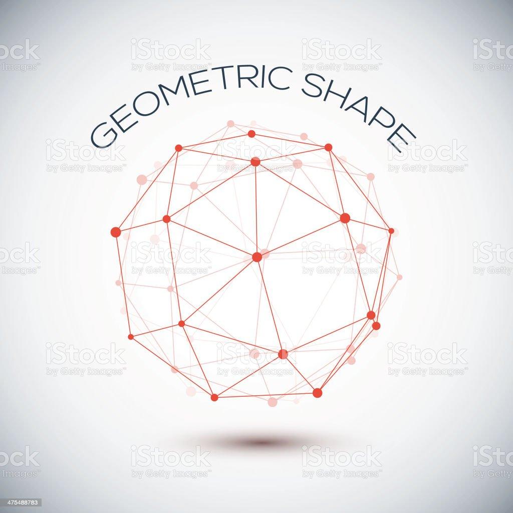Abstract geometric shape royalty-free stock vector art
