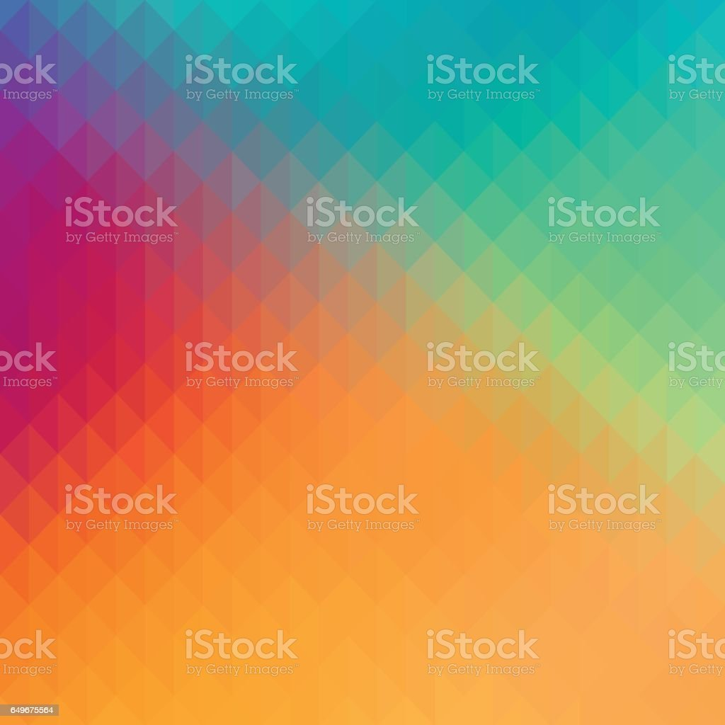Abstract geometric shapes background with pastel colors. vector art illustration