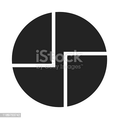 istock Abstract geometric shapes in a black circle. Minimal style logo design. 1189753742