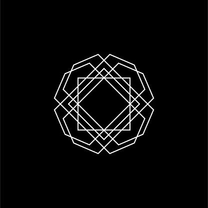 Abstract Geometric Symbol Vector Illustration