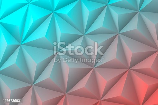 istock Abstract geometric texture - Low Poly Background - Polygonal mosaic - Blue gradient 1176735831