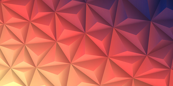 Abstract geometric texture - Low Poly Background - Polygonal mosaic - Red gradient