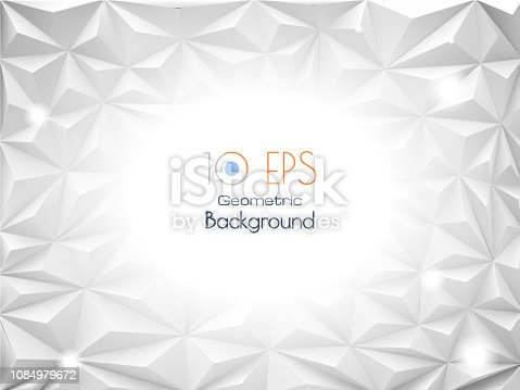 istock Abstract geometric triangle BG with white space for text 1084979672