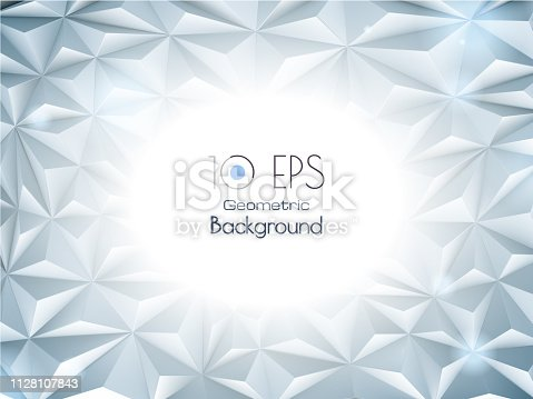 istock Abstract geometric triangle BG with white space for text 1128107843