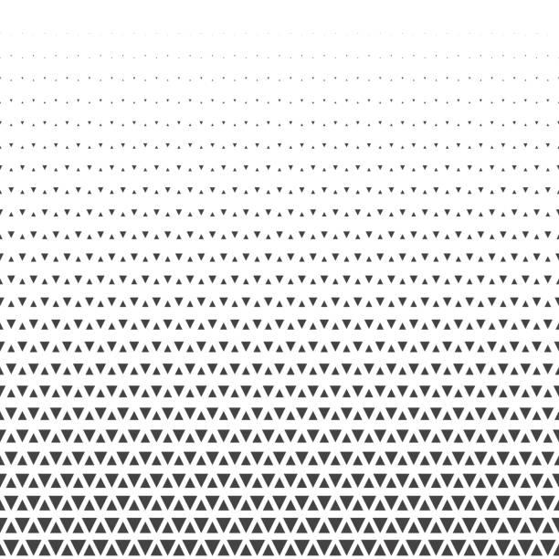 ilustrações, clipart, desenhos animados e ícones de abstrato geométrico triângulo meio-tom retrô vintage sem costura padrão. ilustração vetorial - moda parisiense