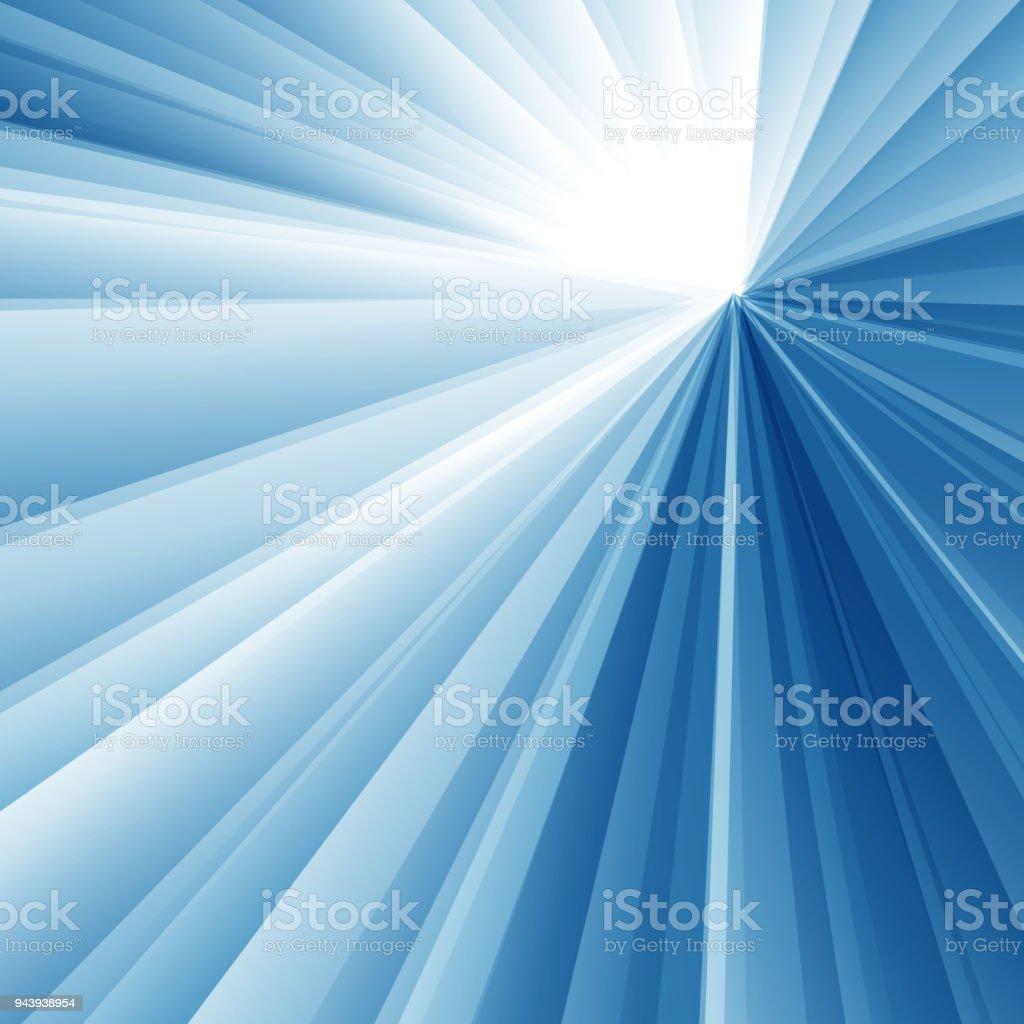 Abstrakte Geometrische Dreieck Radial Weiß Und Blau Farbe ...