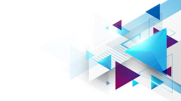 stockillustraties, clipart, cartoons en iconen met abstract geometrische driehoeken futuristische technologie achtergrond. illustratie vector - driehoek