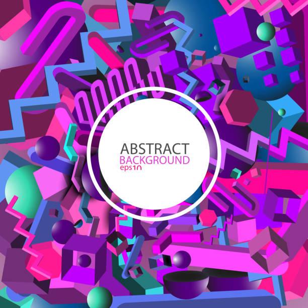 抽象幾何紫外3d 背景向量 eps10向量藝術插圖