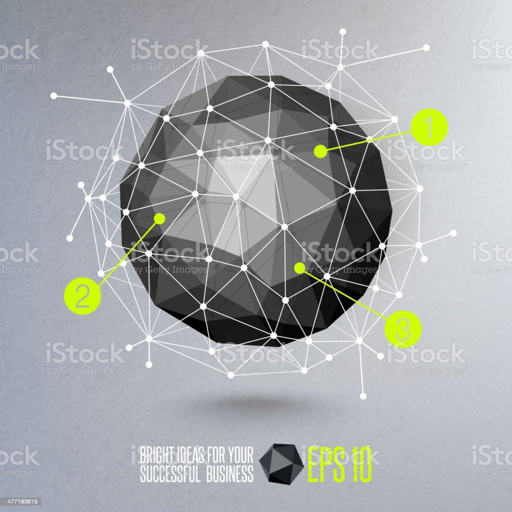 Abstract geometric vector illustration vector art illustration