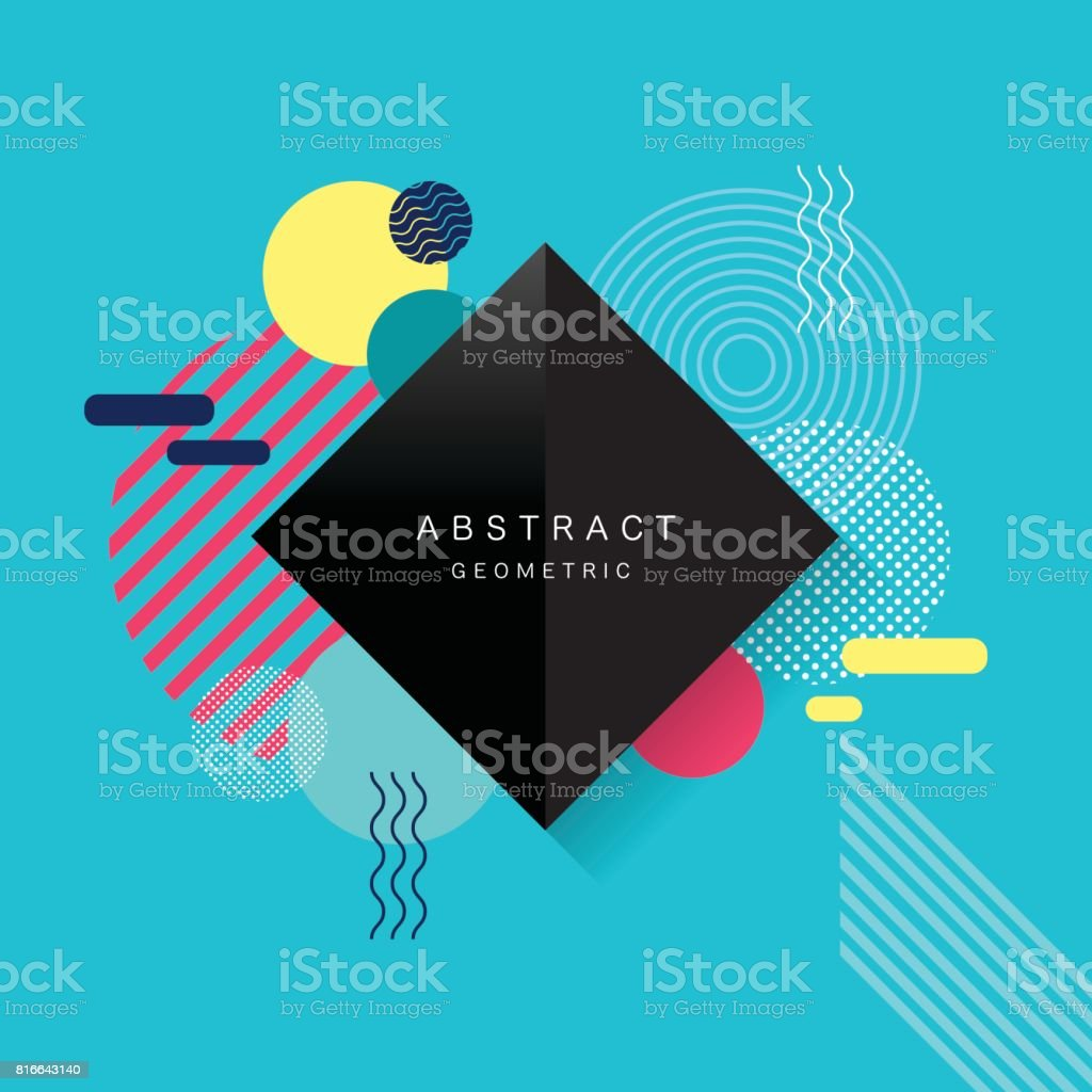 Abstract geometric , vector pattern and background vector art illustration