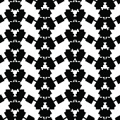 Black and white ethnic pattern. Abstract geometric vector seamless pattern. Black triangle on white background. Tribal seamless pattern tile. Textile or wallpaper boho pattern. Ar deco surface design