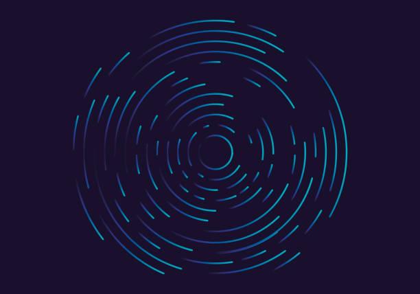 illustrazioni stock, clip art, cartoni animati e icone di tendenza di abstract geometric vortex, circular swirl lines, fingerprint. vector illustration - motivo concentrico