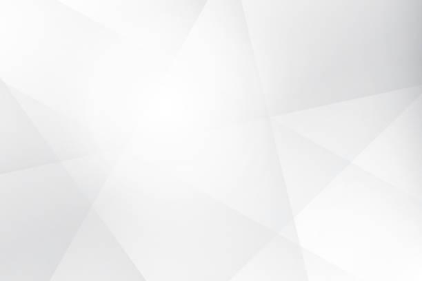 abstrakte geometrische weiße und graue farbe hintergrund, vektor-illustration. - minimal stock-grafiken, -clipart, -cartoons und -symbole
