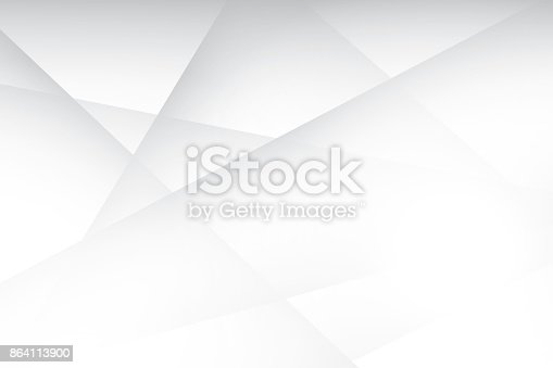 Abstract Geometric White And Gray Color Background Vector Illustration Stock Vector Art & More Images of Abstract 864113900