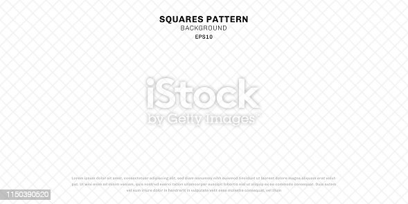 Abstract geometric white seamless squares pattern background and texture. Vector illustration