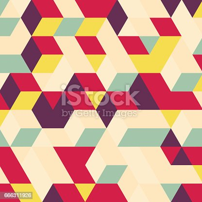 istock Abstract geometrical 3d background. 666311926